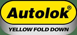 Autolok Yellow Fold Down Parking Post logo