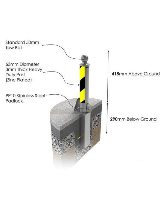 Autolok Removable Hitch Post