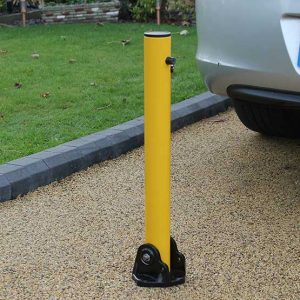 Autolok Yellow Fold Down Parking Post