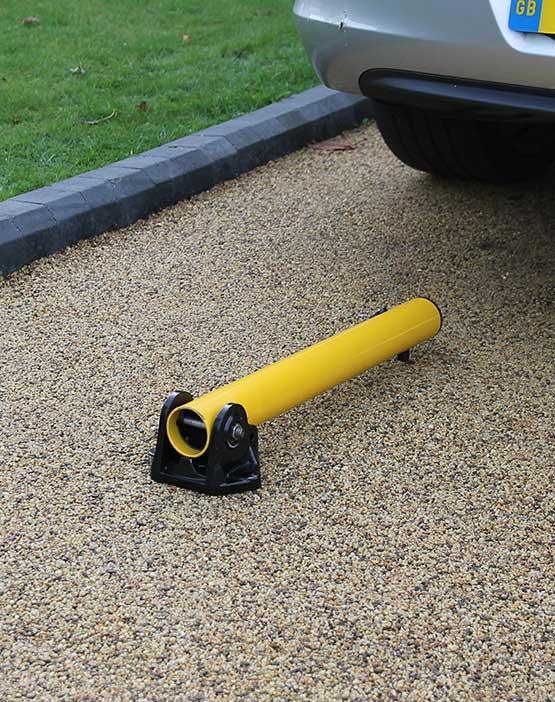 Autolok Yellow Fold Down Parking Post